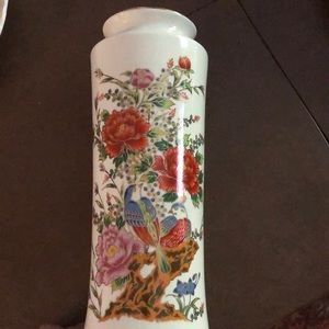 Other - Flower Printed Porcelain Vase